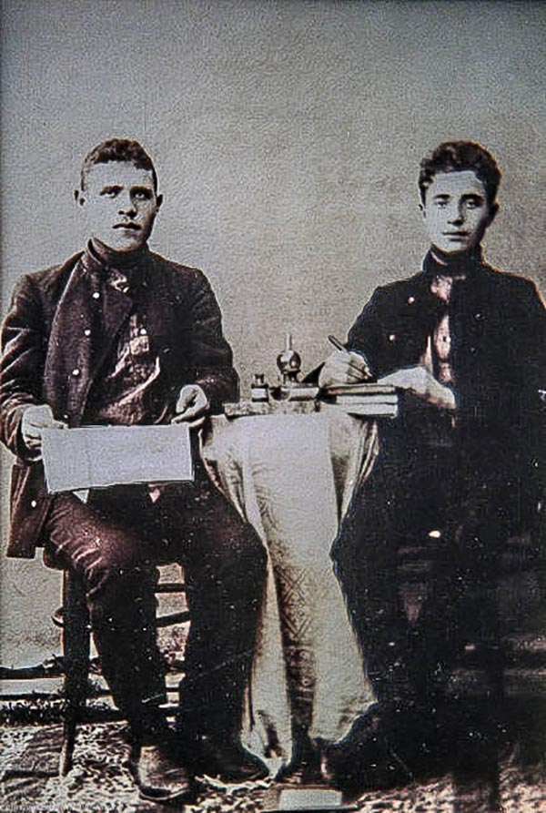 Joseph and Nathan Kozloff in Pereyaslav circa 1905.
