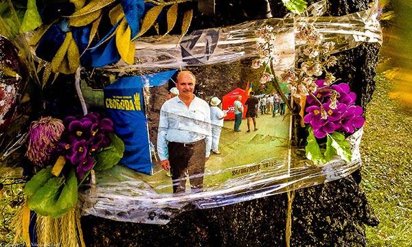 Memento to a fallen Svoboda martyr killed during the EuroMaidan revolution.