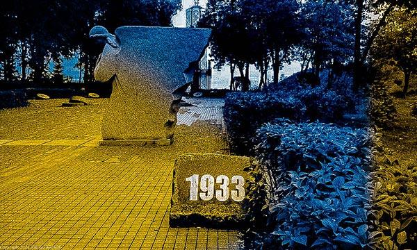 Memorial to the Holodomor in Kiev.